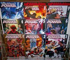 Ultimate Power Marvel Comics #1-9 Full Set Bendis 2006 Cap Spidey Ff Nm 9.4