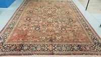 9'x11'HAND-KNOTTED ORIGINAL CR.1900 ANTIQUE CAUCASIAN TRIBAL FINE WOOL VG-DY RUG