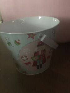 BRAND NEW CHRISTMAS NUTCRACKERS PAIL/WASTE CAN