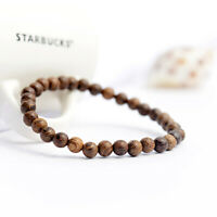 6mm Natural Wood Stone Healing Yoga Bracelets Men's Women Bracelets Jewellery