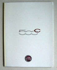 FIAT 500c 2009 RANGE CAR BROCHURE. CONVERTIBLE BUT DOES INCLUDE HATCH BY DIESEL