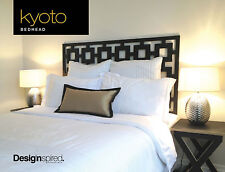 KYOTO Timber Bedhead for Double Ensemble - BLACK