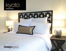 KYOTO Timber Bedhead / Headboard for King Single Ensemble - BLACK