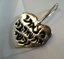 """""""I found you"""" Hebrew & English inscribed heart in sterling silver"""
