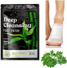 Nuubu Detox Fußpflaster Stressabbau Entgiftungspflaster Füße Bambusessig 10 Stk