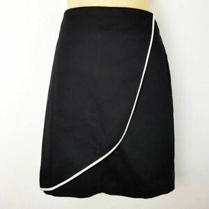 REVIEW Black A-Line Midi Women's Work Skirt Ladies Business Office Wear Cotton
