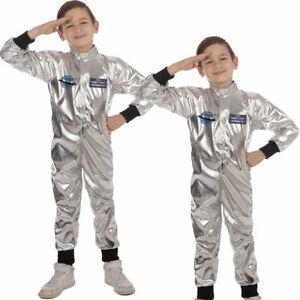Childrens Boys Astronaut Spaceman NASA Uniform Fancy Dress Outfit Costume