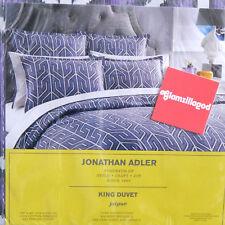JONATHAN ADLER New Jaipur King Duvet Cover Bedding Purple White and Gray $495.00