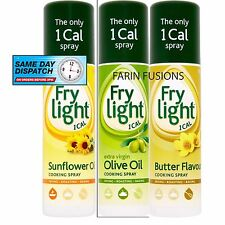 FryLight cottura spray... GIRASOLE-OLIO D'OLIVA-burro - 190ml -1 CAL per Spray