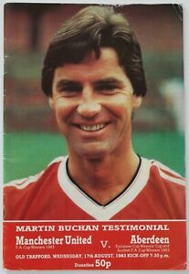 MARTIN BUCHAN TESTIMONIAL MANCHESTER UNITED v ABERDEEN 83/84 17/8/1983 (Ref1238)
