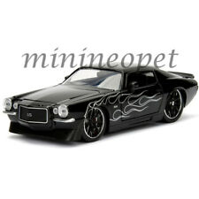 JADA 99970 BIGTIME MUSCLE 1971 CHEVY CAMARO 1/24 BLACK with MATTE BLACK FLAME