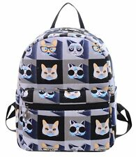 FEOYA Women's Canvas Backpack School Bag Fashion Book Bags Backpacks for and Cat