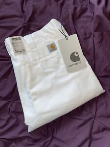 Mens 36w Carhartt Jeans Trousers Bnwt Mather Pants 36/34 Rare 8oz White Rinsed