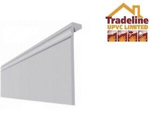 SAMPLE ( Cover Over ) Torus Edge White Upvc Skirting Board
