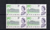 Bahamas 1970 3c white paper MNH block of 4