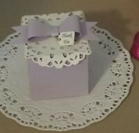 vintage favor boxes with bow. Ivory,rustic,Pink,Lilac -pk- 20,50,100
