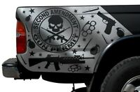 Vinyl Graphics Decal Wrap for 1995-2004 Toyota Tacoma Truck 2nd Amendment SILVER