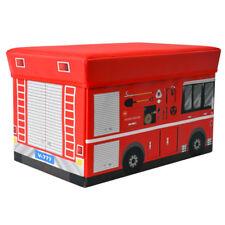 Spielzeugbox Boîte de Rangement Jouets Coffre Tabouret Pompiers