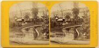 Francia Parigi Esposizione Universale 1867 Creek Foto Stereo Vintage Albumina