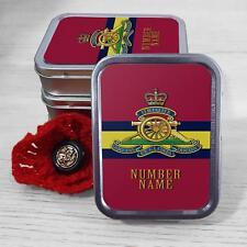 Personalised Royal Artillery Stripe Army 2oz Tobacco Tin Baccy Stash Gift TR86