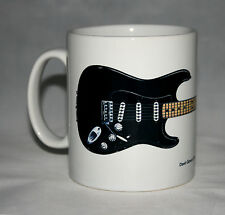 Guitar Mug. David Gilmour's Black Strat guitar Illustration.