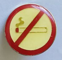 No Smoking Sign Pin Badge Rare Vintage Novelty (E8)