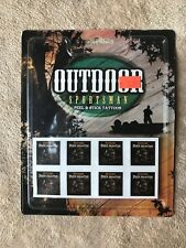3 Pkgs~Outdoor Sportsman~Peel & Stick Tattoos~Hunting~Stickers~Deer~USA~24 CT~