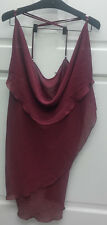 ASYMMETRICAL WINE COLORED CHEMISE TANK NWT 3X PLUS BY ESPECIALLY YOURS