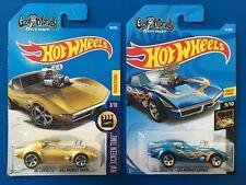 2017 & 2018 Hot Wheels GAS MONKEY GARAGE CUSTOM 1968 CHEVROLET CORVETTES - mint!