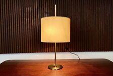 BRASS METAL Height-Adjustable Table Lamp HUSTADT LEUCHTEN Tischlampe Lampe 1960s