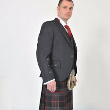 "New Argyll Grey Tweed Kilt Jacket 36"" Long, 100% Wool Hand Made in Scotland"