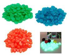 Pietre Luminose Fluorescenti Pack 100 pz Multicolor Acquario Giardino Vasi