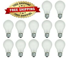 60 Watt Incandescent Light Bulbs A19 E26 Base - 12 Bulbs