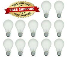 60 Watt Incandescent Light Bulbs Soft White 600 Lumens Household - 12 Bulbs