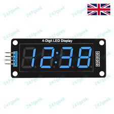 🇬🇧 TM1637 4 Digit Red White Blue LED Display Module Arduino Raspberry Pi Clock