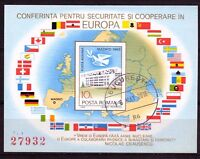 RUMANIA / ROMANIA año 1983 indentar Conferencia sobre seguridad en  Europa usada