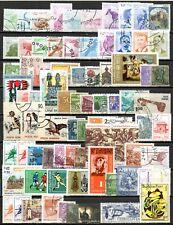 Lot de timbres oblitérés et différent + 1 feuillet football -  voir les 2 photos