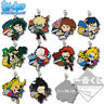Anime  Boku no Hero Academia rubber Keychain Key Ring Straps Rare cosplay