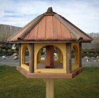 Vogeltränke//Vogelbad mit Solarbeleuchtung u Pflanzschale Vogelfutterhaus