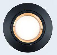 LED Einbaustrahler 230V GU10 Einbau Lampe Einbauspot MR16 Rund schwarz Rahmen