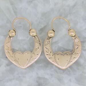 14ct Gold Earrings - Vintage 14ct Rose Gold Earrings