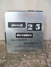Calendario perpetuo ME.TRA.FA. FERROVIA TRENO Altamura Bari Puglia