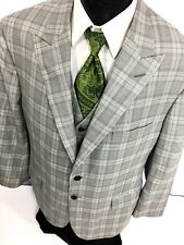 Holland & Sherry Savile Row Men Gray Sport Coat BESPOKE Jacket Wool Blazer Vest
