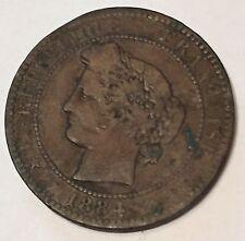 10 Centimes Cérès Bronze 1884A N1