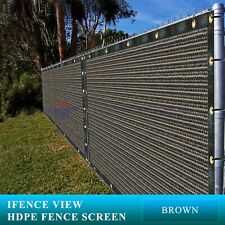 New listing Ifenceview 24 FT Wide Brown Fence Privacy Screen Patio Top Sun Shade Cover Cloth