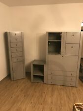INTERLÜBKE Design Module, Büro, Container, Sekretär, Elemente, 70er Jahre, grau