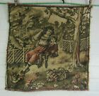 Antique PILLOW OR WALL Tapestry 18 X 18 Art Wall Vintage ROMANTIC PARIS APT
