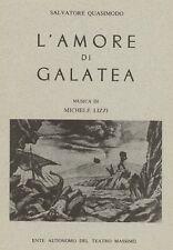 QUASIMODO Salvatore (Modica 1901 - Napoli 1968), L'amore di Galatea