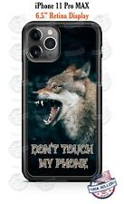 Angry Wolf Don't Touch My Phone Custom Phone Case For iPhone Google Samsung LG