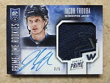 13-14 Panini Prime Time Rookies RC Auto Patch #RK-JTR JACOB TROUBA /5